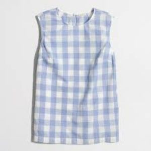 J. Crew Factory Gingham shell tank top sz 00